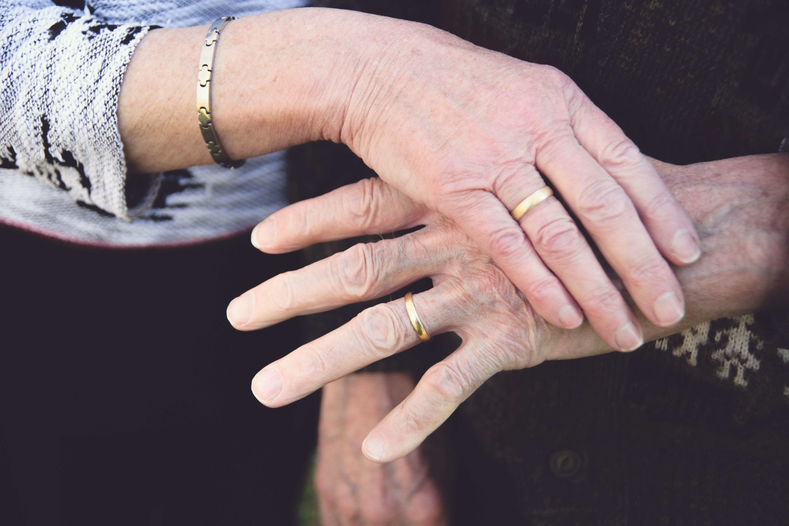 Old person hands